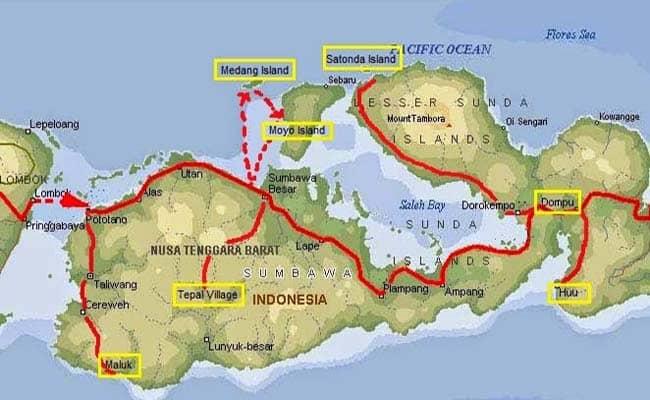 Lokasi Pulau Moyo Sumbawa